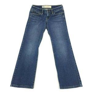 Ann Taylor Loft Slim Bootcut Jeans Sz 0 Stretch
